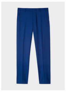 Men's Slim-Fit Blue Wool 'A Suit To Travel In' Trousers
