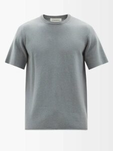 Alexander Mcqueen - Gothic Logo Panelled Track Pants - Mens - Dark Grey
