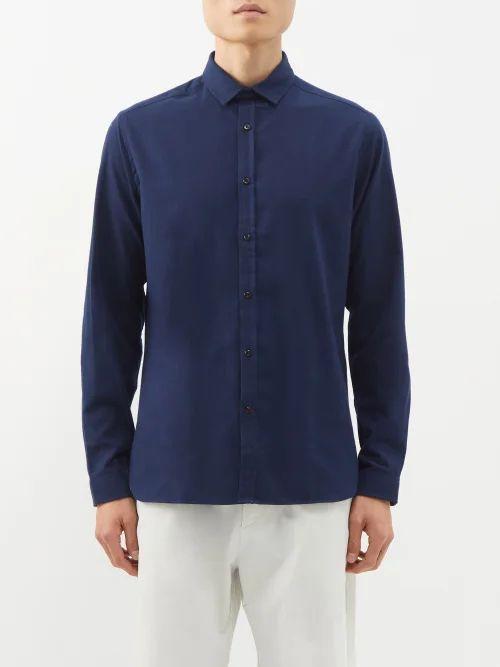 Alexander Mcqueen - Deconstructed Relaxed Leg Jeans - Mens - Indigo