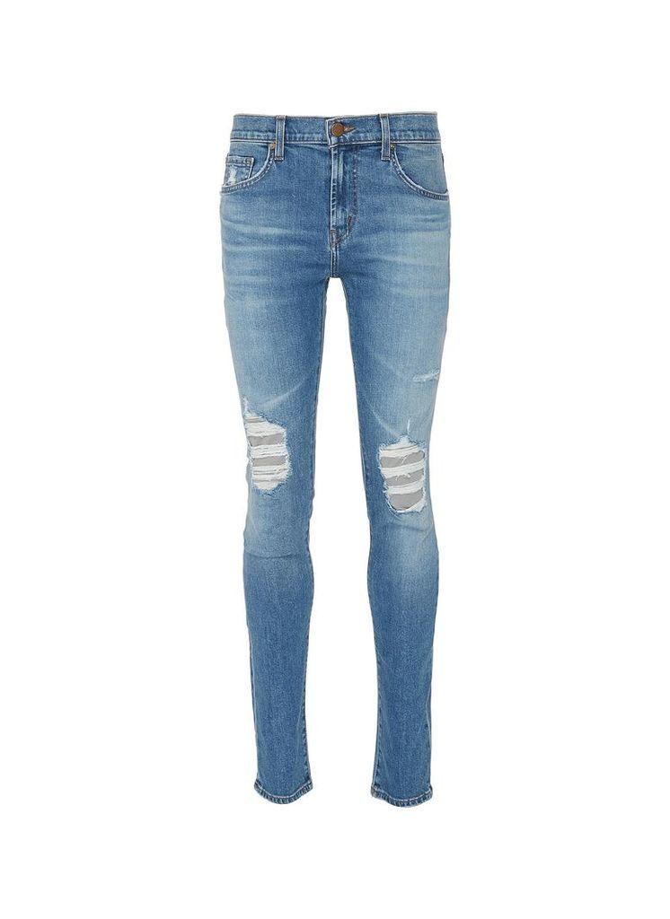 'Mick' rip and repair skinny jeans