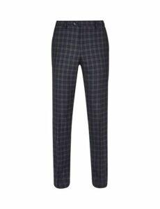 Mens 1904 Brixham Black Check Trousers*, Black