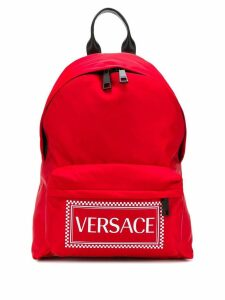 Versace logo backpack - Red