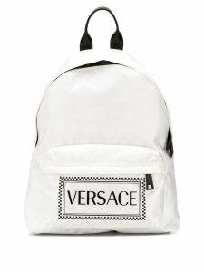 Versace logo backpack - White