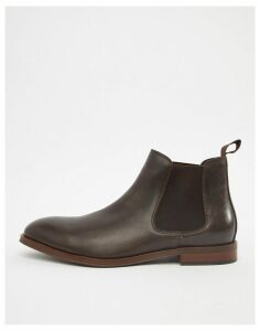 Office Imbark chelsea boots in chocolate leather-Brown