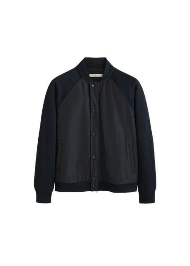 Contrasting design cotton jacket