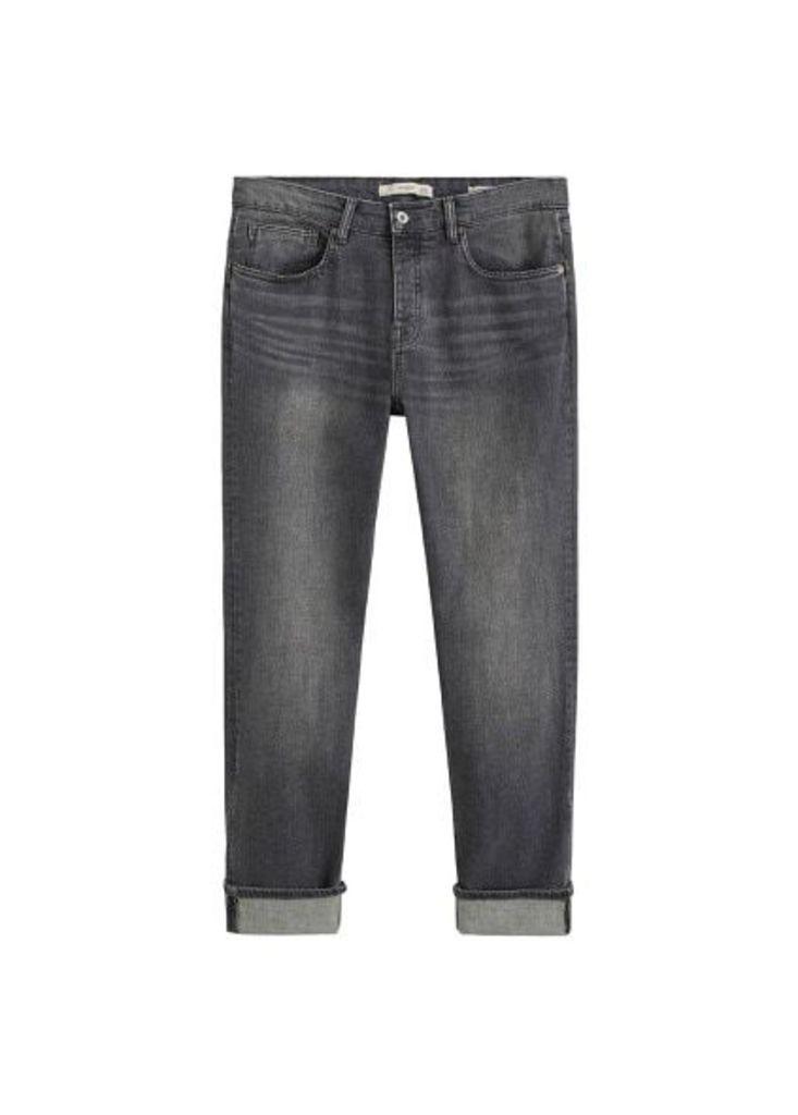 Regular-fit grey wash Steve jeans