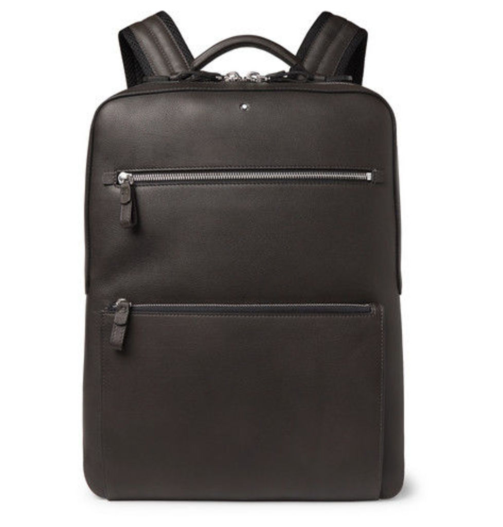 Montblanc - Meisterstück Leather Backpack - Gray