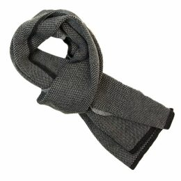 40 Colori - Charcoal Three Designs Wool Scarf