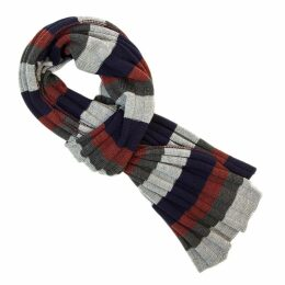 40 Colori - Charcoal Multi Striped Wool Scarf