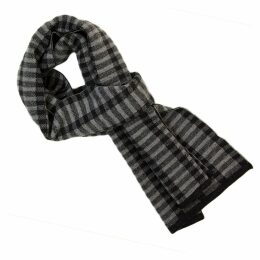 40 Colori - Charcoal Geometric Wool Scarf