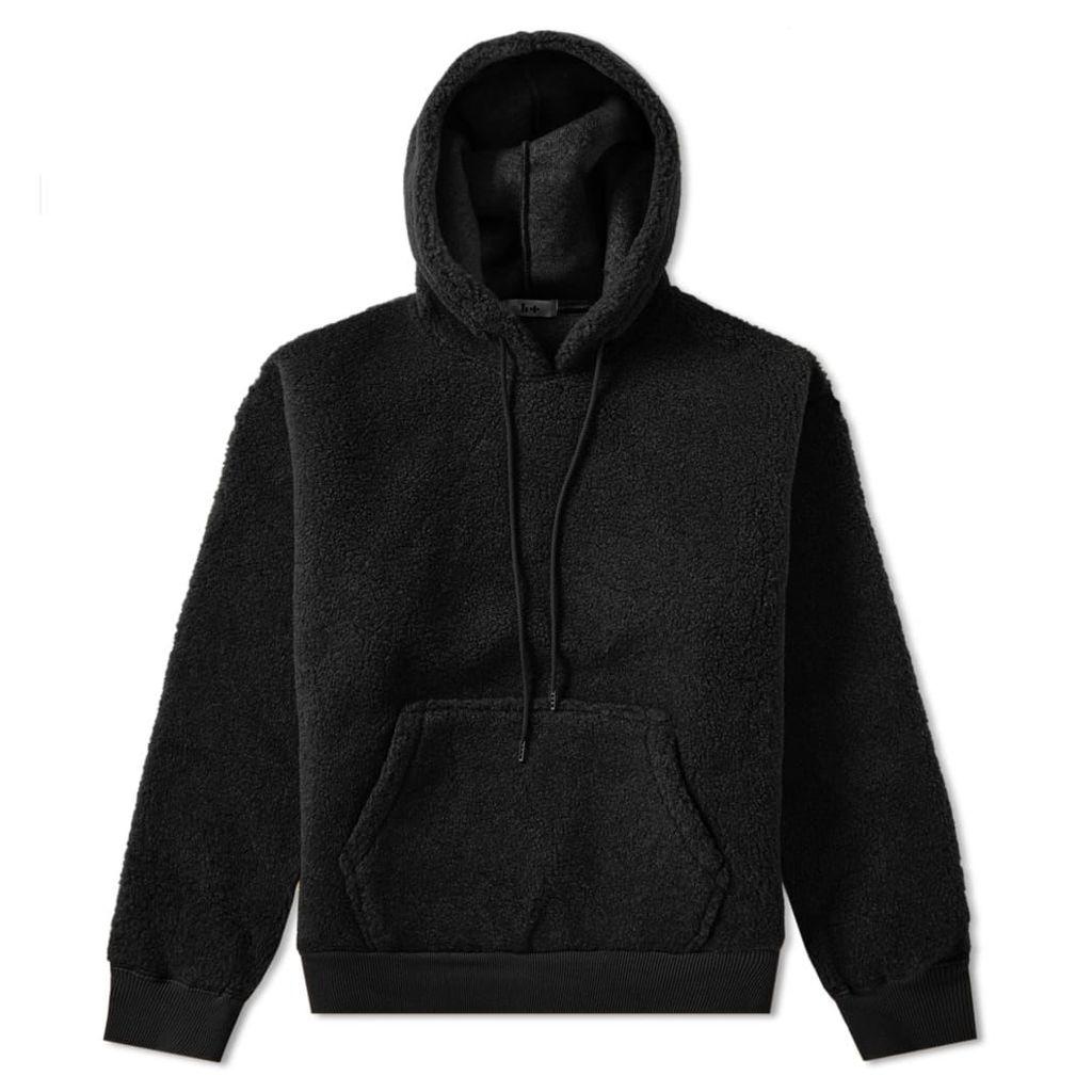Head Porter Plus Sherpa Popover Hoody Black