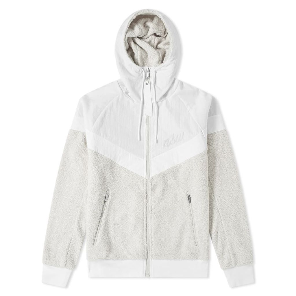 Nike Sherpa Wind Runner White, & Light Bone