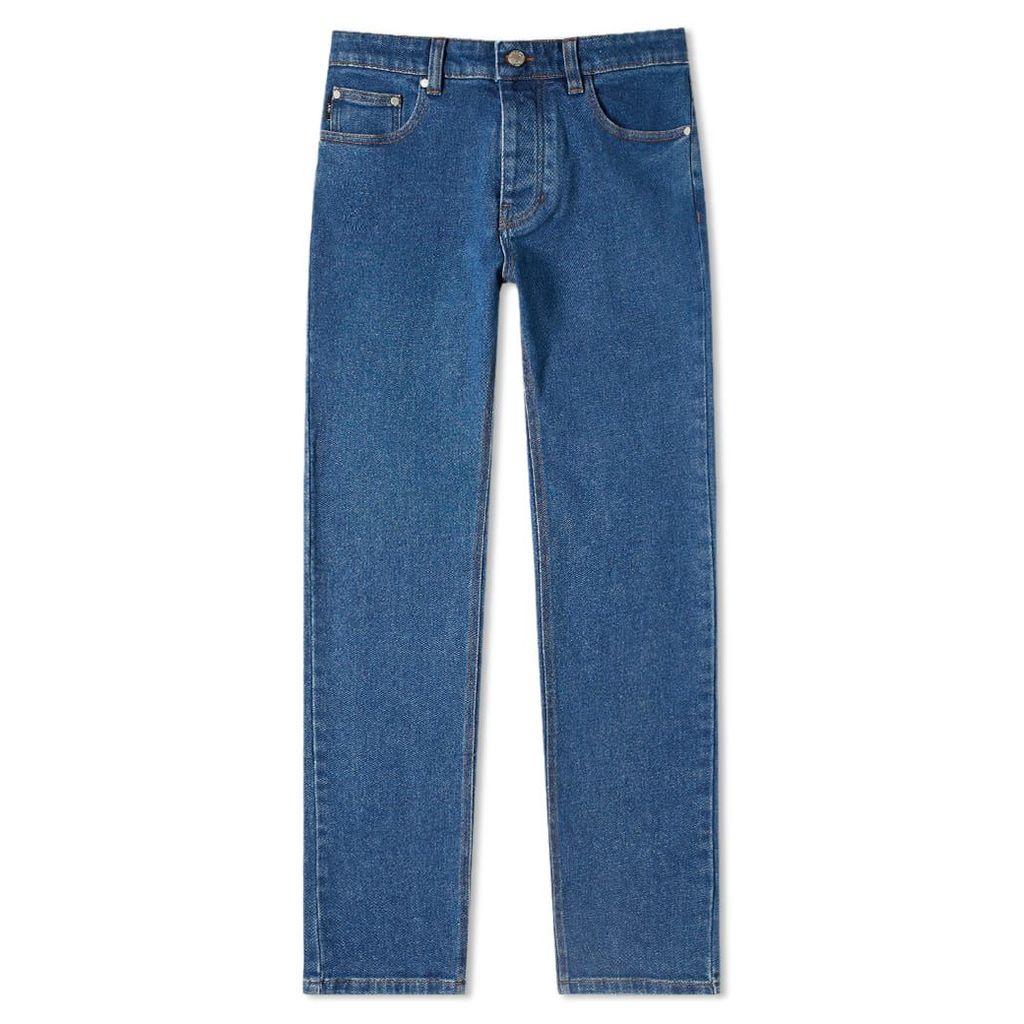 AMI Slim Fit Jean Washed Blue