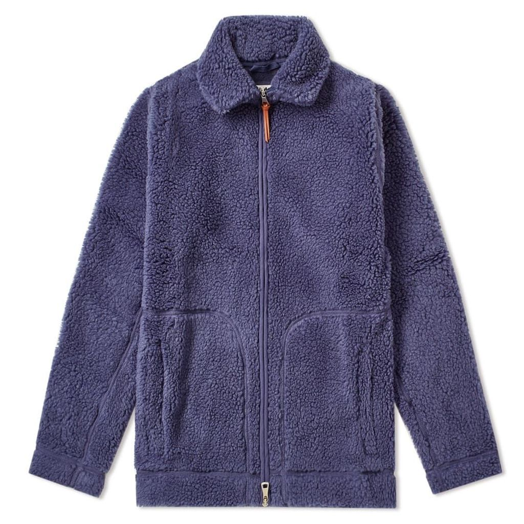 Albam Zip Through Fleece Indigo