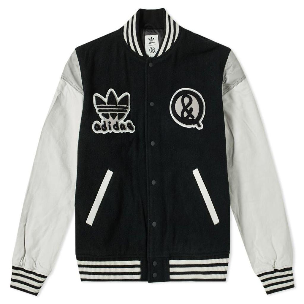 Adidas United Arrows & Sons Varisty Jacket Black & White