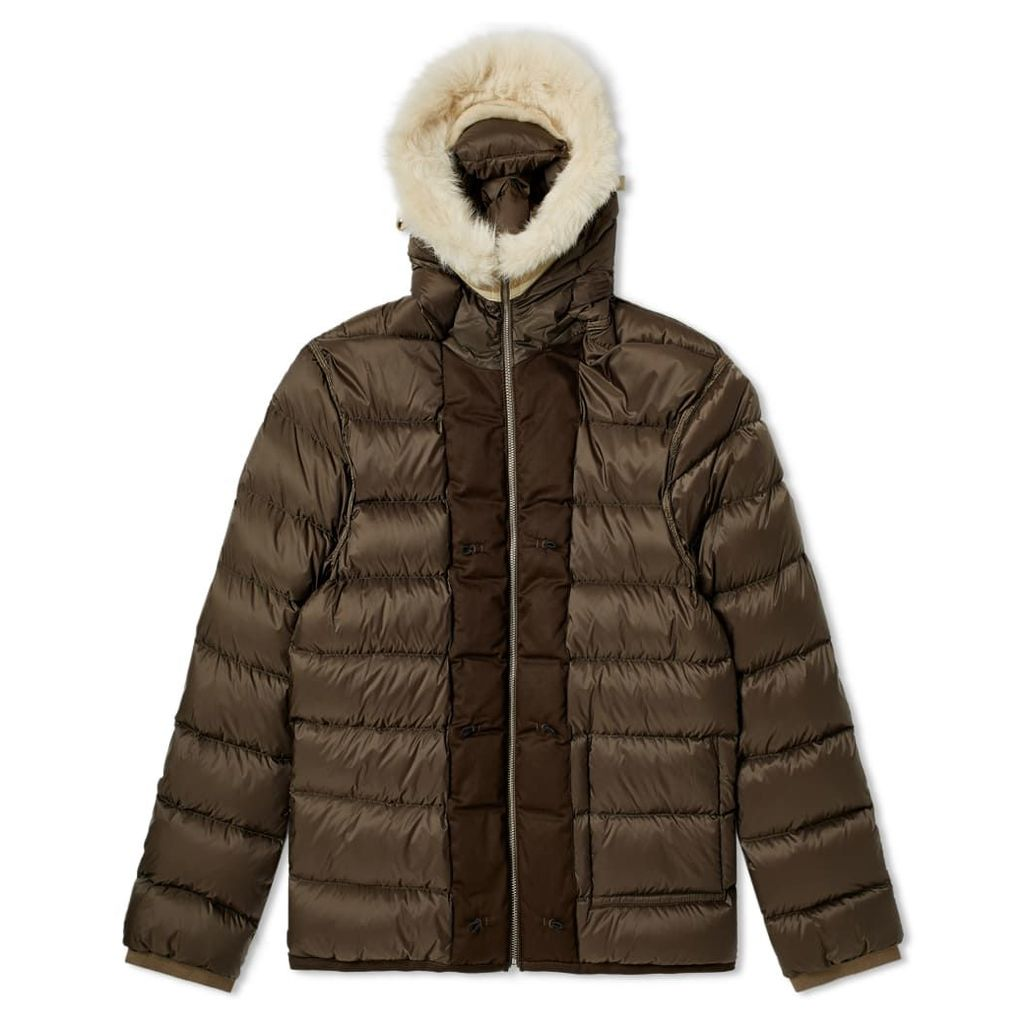 Ten C Shearling Hooded Down Liner Olive