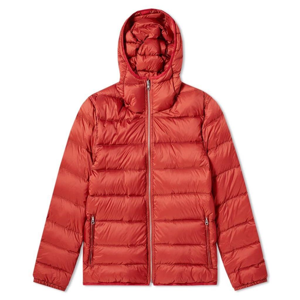 Ten C Hooded Nylon Down Liner Red