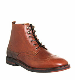 Hudson London Harland Brogue boots TAN LEATHER