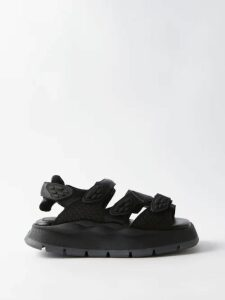 516e78693 Sasquatchfabrix - Side Stripe Cotton Blend Corduroy Trousers - Mens - Black