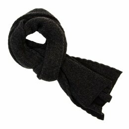 40 Colori - Charcoal Small Braided Wool & Cashmere Scarf