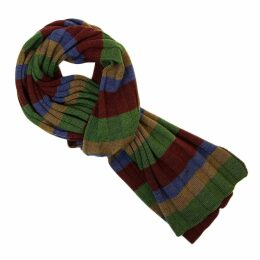 40 Colori - Burgundy Multi Striped Wool Scarf