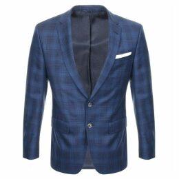 BOSS HUGO BOSS Hutson Checked Jacket Blue