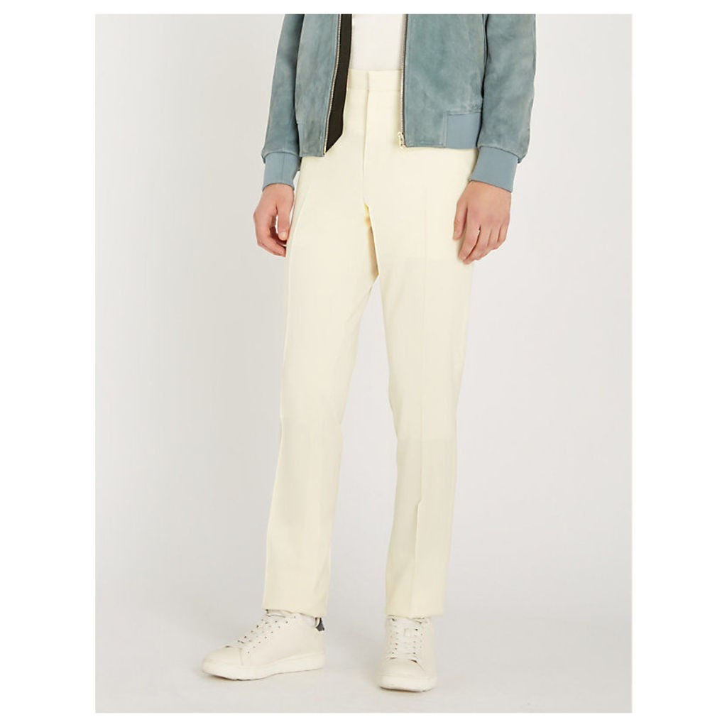 Regular-fit wool tapered trousers