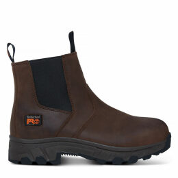 Timberland Men's Pro Workstead Chelsea Boot Brown Brown, Size 9.5 UK