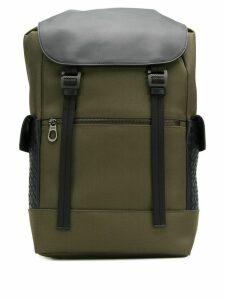 Bottega Veneta Intrecciato panel backpack - Green