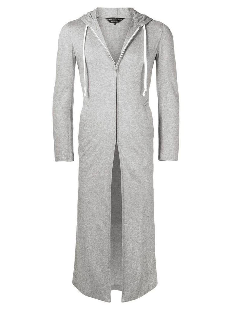 Comme Des Garçons Vintage long zipped hoodie - Grey