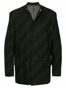 Comme Des Garçons Pre-Owned diagonal striped jacket - Black