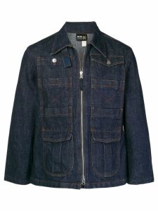 Jean Paul Gaultier Pre-Owned zipped denim jacket - Blue