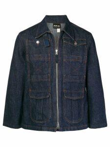 Jean Paul Gaultier Pre-Owned zipped denim jacket - Blue