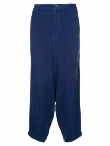 Comme Des Garçons Pre-Owned drop crotch trousers - Blue
