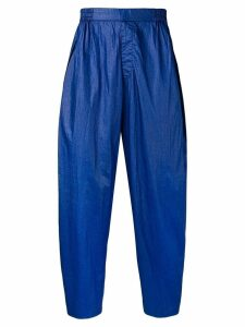 Issey Miyake Pre-Owned 1980's water resistant trousers - Blue