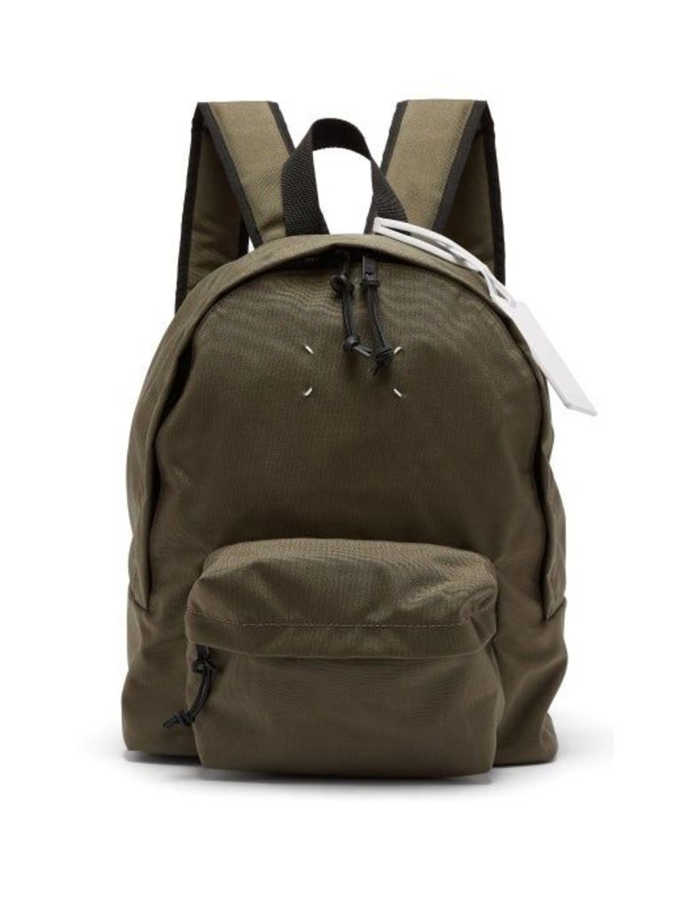 Maison Margiela - Stereotype Canvas Backpack - Mens - Green