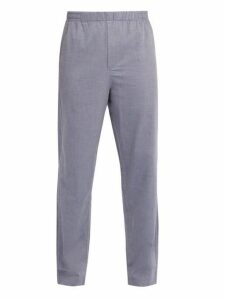 Hamilton And Hare - Cotton And Cashmere Blend Pyjama Trousers - Mens - Blue