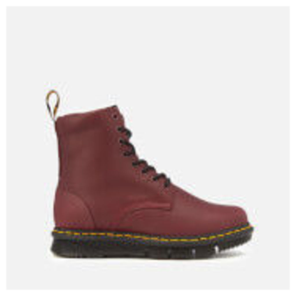 Dr. Martens Men's Lexington Cube Flex Leather 8-Eye Boots - Burgundy - UK 9 - Burgundy