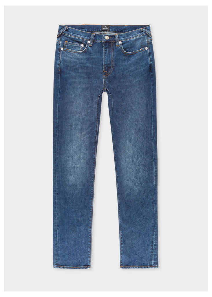 Men's Slim-Fit 11.8oz 'Crosshatch Stretch' Antique-Wash Jeans