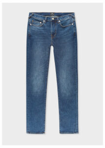 Men's Slim-Fit 11.8oz 'Crosshatch Stretch' Antique-Wash Jeans