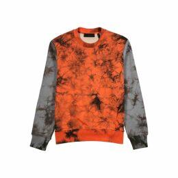 Helmut Lang Colour-block Tie-dye Cotton Sweatshirt