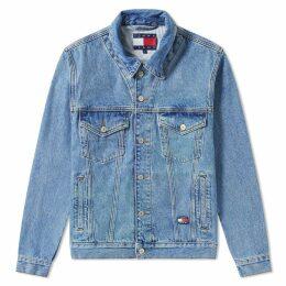 Tommy Jeans 6.0 Crest Flag Trucker Jacket M18 Mid Denim Blue