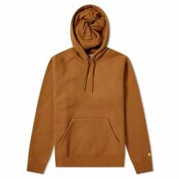 Carhartt Hooded Chase Sweat Hamilton Brown & Gold