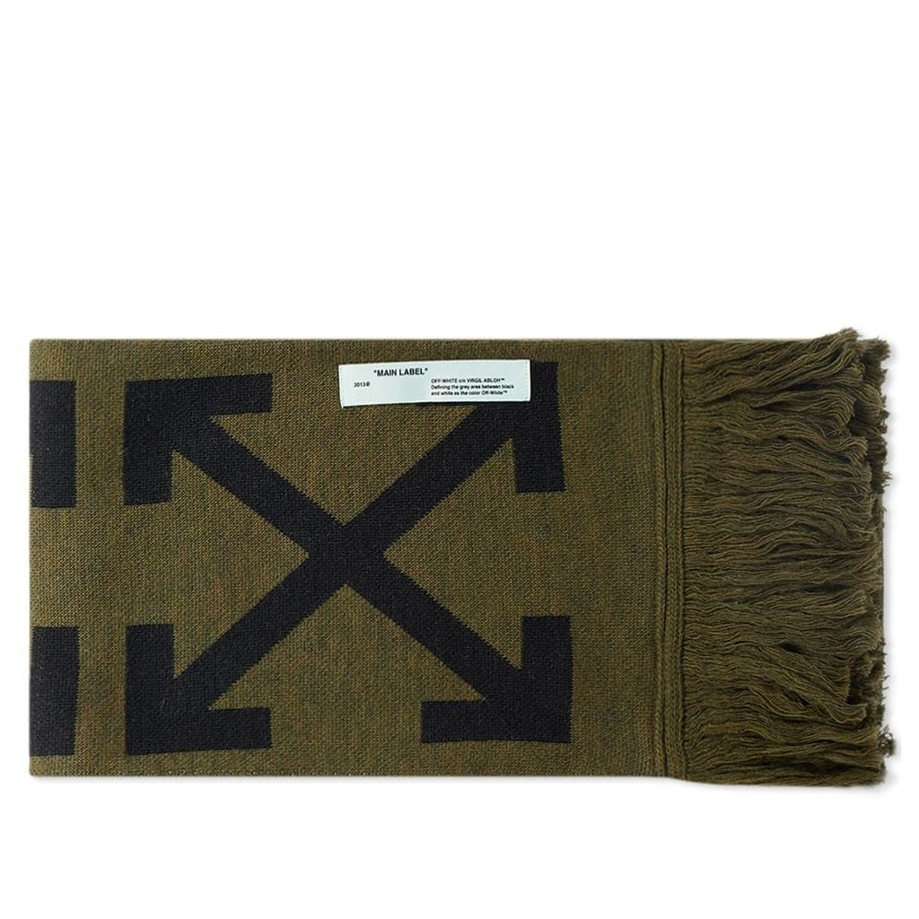 Off-White Arrows Scarf Military Green