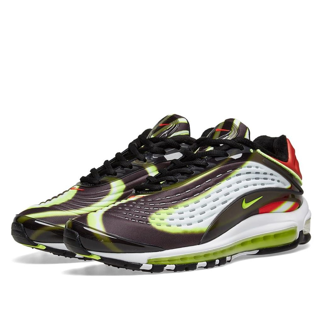 Nike Air Max Deluxe Black, Volt, Red & White