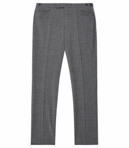 Reiss Believer - Wool Blend Modern Fit Trousers in Soft Grey, Mens, Size 38