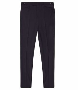 Reiss Believer - Wool Blend Modern Fit Trousers in Navy, Mens, Size 38