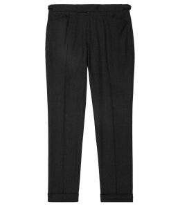 Reiss Pulse - Wool Slim Fit Trousers in Charcoal, Mens, Size 38