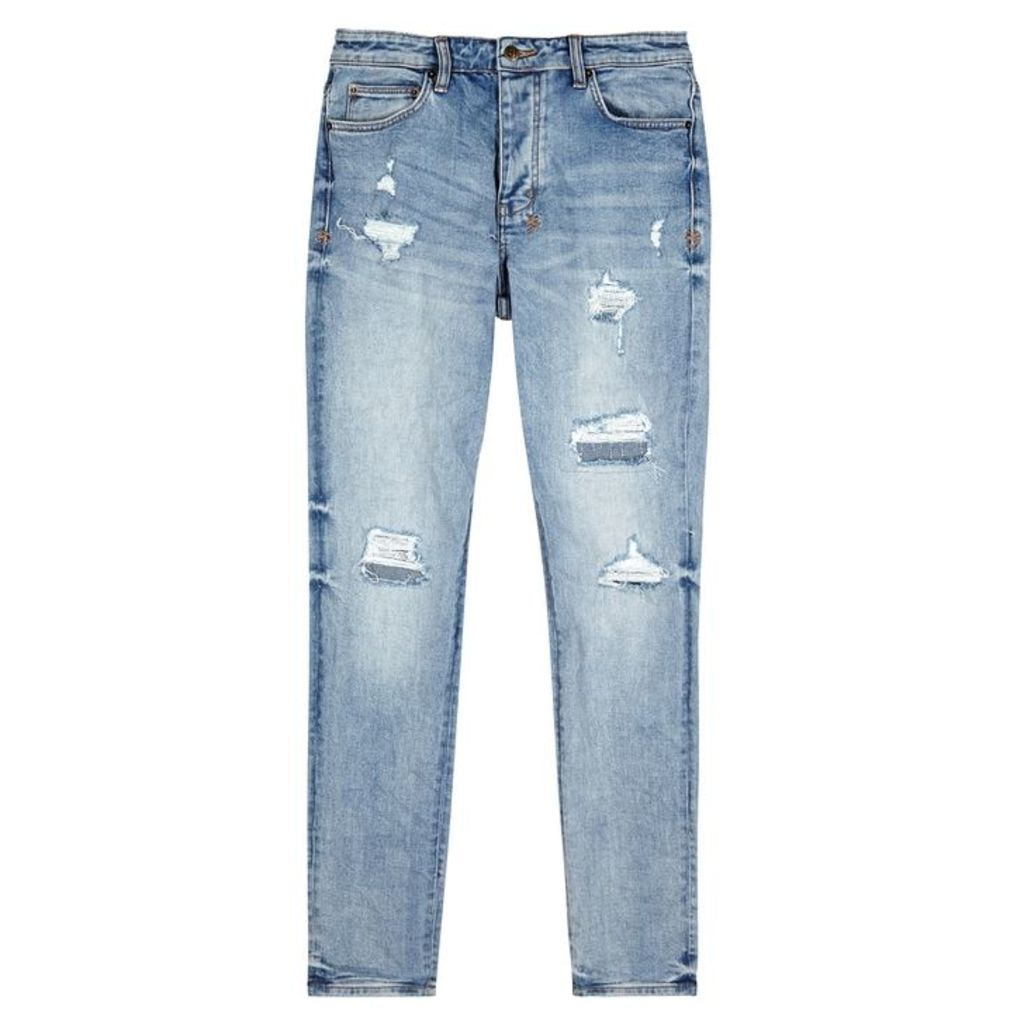 Ksubi Chitch Distressed Tapered-leg Jeans