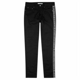 Givenchy Logo-jacquard Slim-leg Jeans
